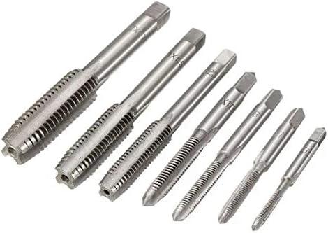 Haoshengo 7pcs M3 to M12 Metric HSS Right Hand Thread Tap Set Metric Plug Tap Drill Bits