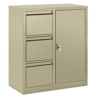 Incroyable Edsal 3801PU Steel Pre Assembled Combo Cabinet With 3 File Drawers,  36u0026quot; Width