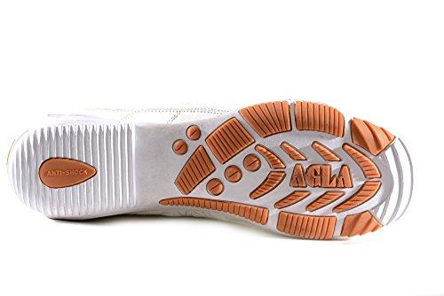 AGLA - Zapatillas de fútbol sala de Piel para hombre Blanco blanco media blanco