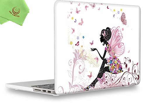"""UESWILL Creative Design Smooth Soft-Touch Hard Shell Case for (Late 2012-Early 2015 Version) MacBook Pro 13"""" with Retina Display (No CD-ROM) (Models: A1502/A1425) ,Fairy"""