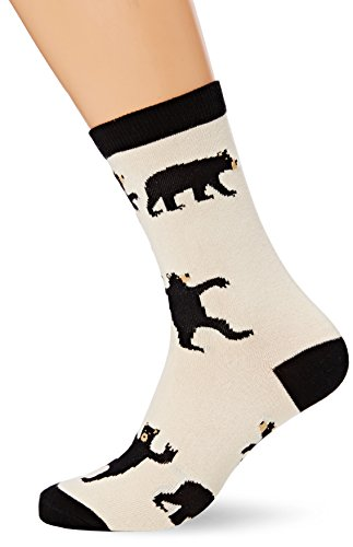 Little Blue House By Hatley Women's Crew Socks, black Bears, One Size