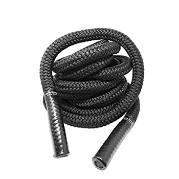 Image of Core & Abdominal Trainers ALPHA STRONG Workout Battle Rope for Exercise and Fitness Strength Training | Heavy Duty Thick Polyester Gym Undulation Ropes with Rubberized Grip | Battling Rope for Crossfit, Conditioning, Cardio
