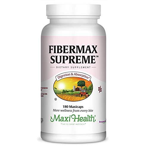 Maxi Health Fibermax Supreme - Psyllium Husk & Flax Bran - Constipation Help - 180 Capsules - ()