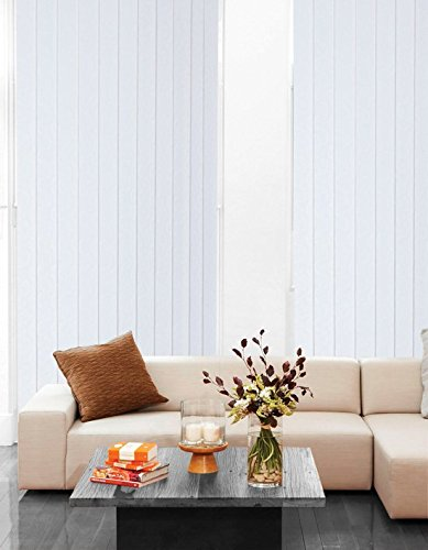 Made to Measure Vertical Blind Slats Lapwing White 89mm//3/½ Slat Width Upto 2500mm//98 Drop Price Includes Hangers Weights /& Chains.