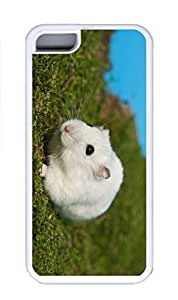 iPhone 5C Case, Personalized Custom Rubber TPU White Case for iphone 5C - White Mice Cover by icecream design
