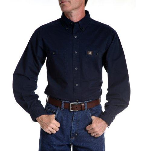 Shirt Wrangler Blue Twill (Riggs Workwear by Wrangler Twill Work Shirt - 3W501 (4XLarge Tall))
