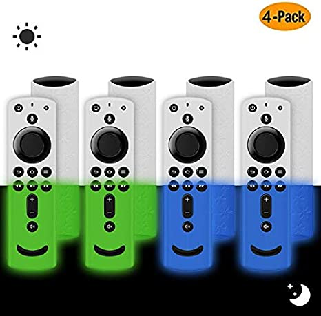 4 Pack, Multicolor H //All-New 2nd Gen Alexa Voice Remote Control 3rd Gen Remote Cover for Fire TV Stick 4K Lightweight Anti-Slip Shockproof Silicone Remote case for Fire TV Cube//Fire TV