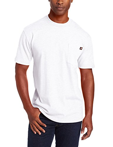 Dickie's Men's Short Sleeve Heavyweight Crew Neck Pocket T-Shirt, Ash Gray, Medium