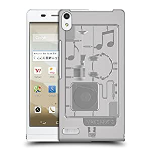 Head Case Designs Music Model Kits Protective Snap-on Hard Back Case Cover for Huawei Stream S 302HW LTE