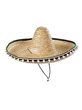 DISBACANAL Sombrero Mejicano de Paja 45cm - Beige  Amazon.es  Juguetes y  juegos a6219d3d484