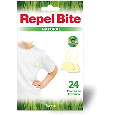 REPEL BITE NATURAL 24 parches repelentes CITRONELA. Protección más natural. Acción hasta 8-12 horas. Para niños y adultos con la piel más sensible.