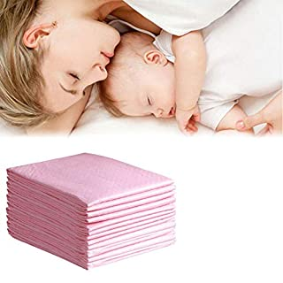 OBloved Disposable Changing Pad Cover,20 Pack Baby Changing Pad,Waterproof Changing Table Pad,High Absorbent Diaper Changing Pad Underpads,17x24 Inches (Pink)