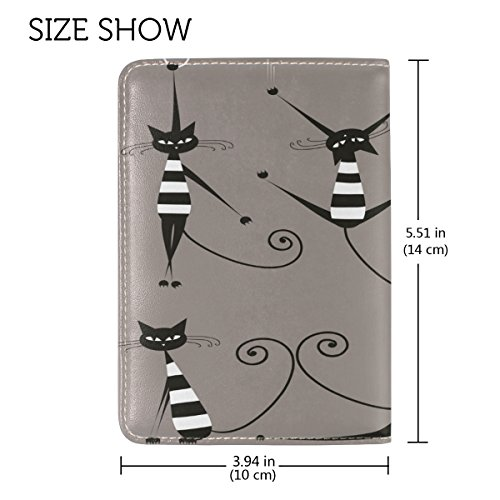 Fashion Cat Leather USA Passport Holder Cover Travel Wallet Case Protector by CHAYUN (Image #3)