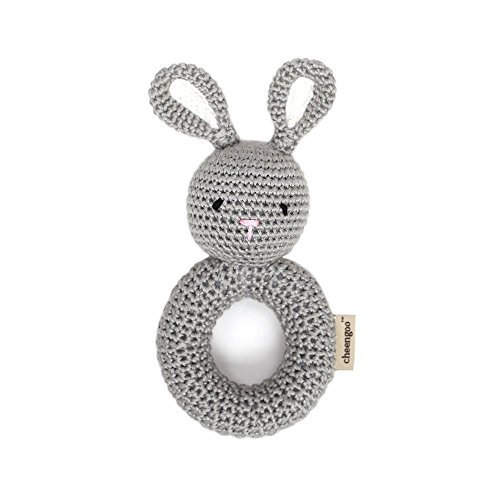 Cheengoo Organic Crocheted Bunny Ring Rattle