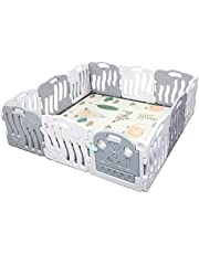 Toytexx2M x 2M x 0.63M Baby Kid Playpen Panel Activity Center Safety Fence Playyard-Grey Color