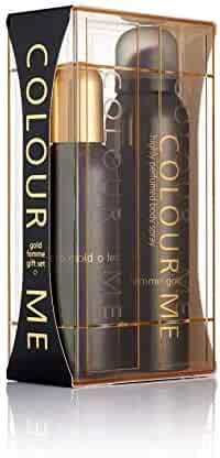 Colour Me | Femme Gold | Eau de Toilette and Body Spray | Perfume 2 Piece Gift Set | Womens Fragrance | Oriental Fruity Scent | EDT Spray - 3.4 oz /  Body Spray - 5.1 oz