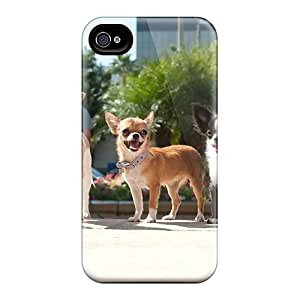 Cute Appearance Cover/tpu UzgjuvG4077UHhLr Chihuahuas In Beverly Hills Case For Iphone 4/4s