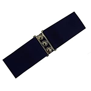 Hell Bunny Retro Vintage Elasticated Wide Belt