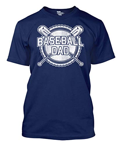 Baseball Dad Men's T-Shirt (Navy, X-Large)