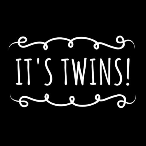 It's Twins!: Black and White Guest Book for Twin Baby Shower or Gender Reveal Party - Square Size with Space for Visitors to Write Message, Lines for Email, Name and Address + GIFT LOG