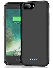 Feob Coque Batterie pour iPhone 6 Plus/6S Plus/7 Plus/8 Plus Coque Rechargeable 8500 mAh Batterie Externe Chargeur Portable Puissant Power Bank pour iPhone 7 Plus/6 Plus/6 Plus/8 Plus (5.5 Pouces)