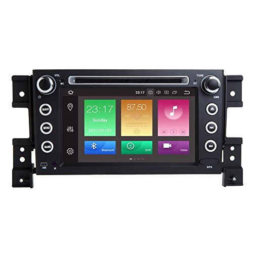 Android 8.0 2005-2012 Suzuki Grand Vitara Indash Car Stereo Radio Head Unit GPS Navigation System with DVD Player/Bluetooth/SD/USB/Radio/SWC/8 Core/4GB RAM/Map (2005-2012 SUZUKI Grand Vitara.)