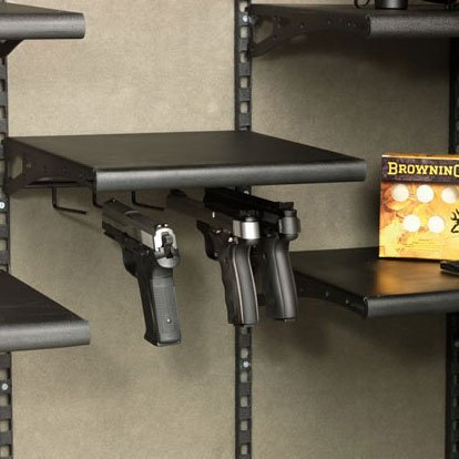 Browning AXIS Pistol Rack - 154102 - Five Handgun Capacity - Stores Cargo Under The Shelf - Easily Customize Your Safe!