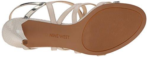 Kallistuneen Sandaali Luonnonvalkoinen Nahka Harjoittelija Nine Naisten Valkoinen West FwqXxAI