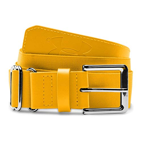 Under Armour Men's Baseball Belt, Steeltown Gold (750)/Steeltown Gold, One Size (Big Gold Belt)