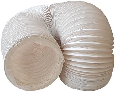 Tubo de salida de aire (PVC, diseño flexible, 150 mm de diámetro, 3 m de largo, compatible con instalaciones de aire acondicionado, secadoras o campanas extractoras)
