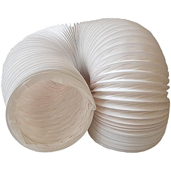 Tubo de salida de aire (PVC, diseño flexible, 150 mm de diámetro, 3 m de largo, compatible con instalaciones de aire acondicionado, secadoras o campanas extractoras): Amazon.es: Hogar