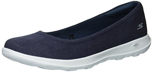 Skechers Performance Women's Go Walk Lite-15393 Ballet Flat,denim,9 M US
