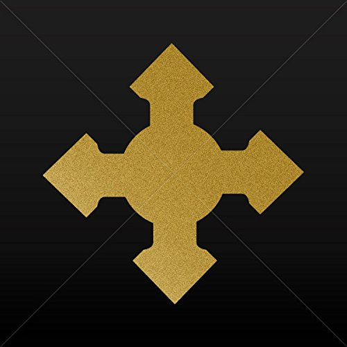- Religion Various sizes Sticker Midle Age Gothic Cross Motorbike Vehicle Weatherproo Gold-Matte (4 X 4 Inches)