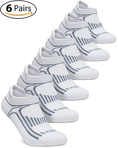 (TSLA Men's 6-Pairs Atheltic No Show Socks Cushioned Comfort w Mesh, No Show Active(mzs05) - White, Medium (5~8.5))