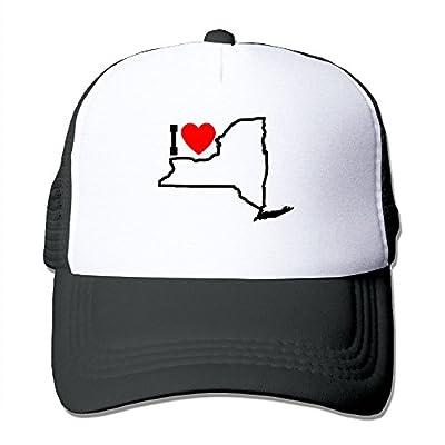 I Love NY Unisex Adjustable Snapback Hats Trucker Cap | Baseball Caps Mesh Back