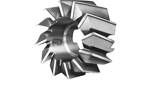 6 Diameter 1 Width of Face 1.25 Hole Size High Speed Steel F/&D Tool Company 11267-A564 Staggered Tooth Side Milling Cutter