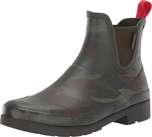 Tretorn Women's LINA2 Rain Boot, Dark Green Camo, 10 Medium US