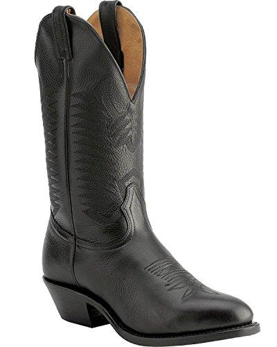 Bottes américaines - santiags: bottes country BO-9502-72-E (pied normal) - Homme - Noir - 39.5