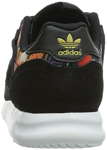 adidas Originals ZX 500 2.0 W Damen Low-Top Noir (Noiess/Noiess/Ormeta)