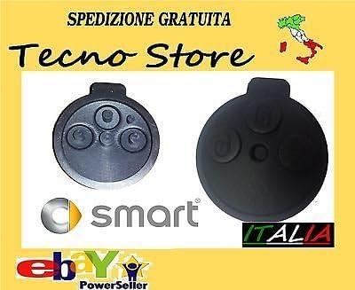 SMART FORTWO 451 GOMMINO 3 TASTI RICAMBIO CHIAVE GUSCIO COVER TELECOMANDO