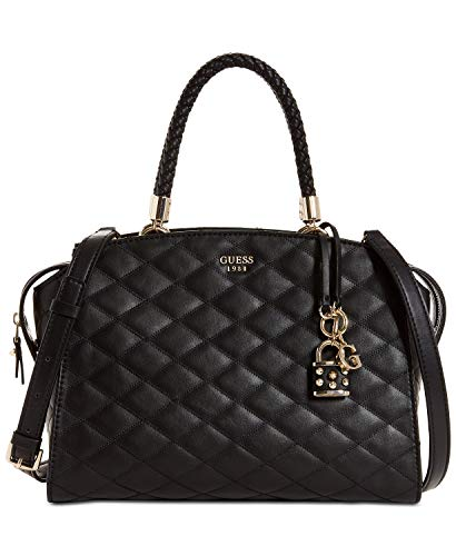 GUESS Penelope Quilted Satchel Tote Bag Handbag