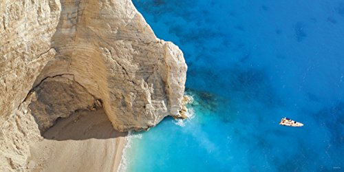 Greece Navagio Island Shipwreck Beach Decorative Scenic Travel Photography Poster Print 12X24