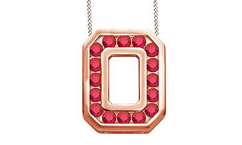 State Buckeye pendant in 10K Solid Gold (10k Gold Ohio State Pendant)