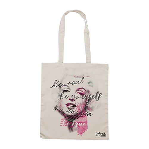 Borsa MARILYN MONROE TRIBUTE BE UNIQUE - Sand - FAMOSI by Mush Dress Your Style