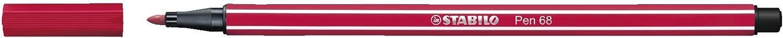 Stabilo Pen 68 Coloring Felt-tip Marker Pen, 1 mm - Dark Red Ink