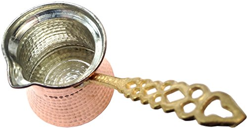 Premium Brass Copper Turkish Coffee Warmer Pot with for sale  Delivered anywhere in Canada