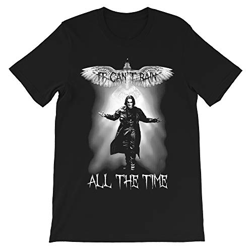 The Crow Movie it Can't rain All The time Brandon lee eric Draven Vintage Gift Men's Women's Girls Unisex T-Shirt Hoodie (Black-XL) (Did Brandon Lee Die Before Finishing The Crow)