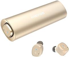 Bluetooth イヤホン 完全 ワイヤレスイヤホン Pasonomi ブルートゥース イヤホン 自動ペアリング 高音質 充電ケース付 自動ON/OFF IPX5防水 マイク付き Bluetooth 5.0 Siri対応 左右分離型 両耳 iPhone Android 対応(ゴールド)