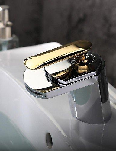 Moderne Chrom-WasserfaÖl Ein Loch Einhand Waschbecken Wasserhahn