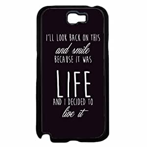 I'll Look Back On This and Smile- Plastic Phone Case Back Cover Samsung Galaxy Note II 2 N7100